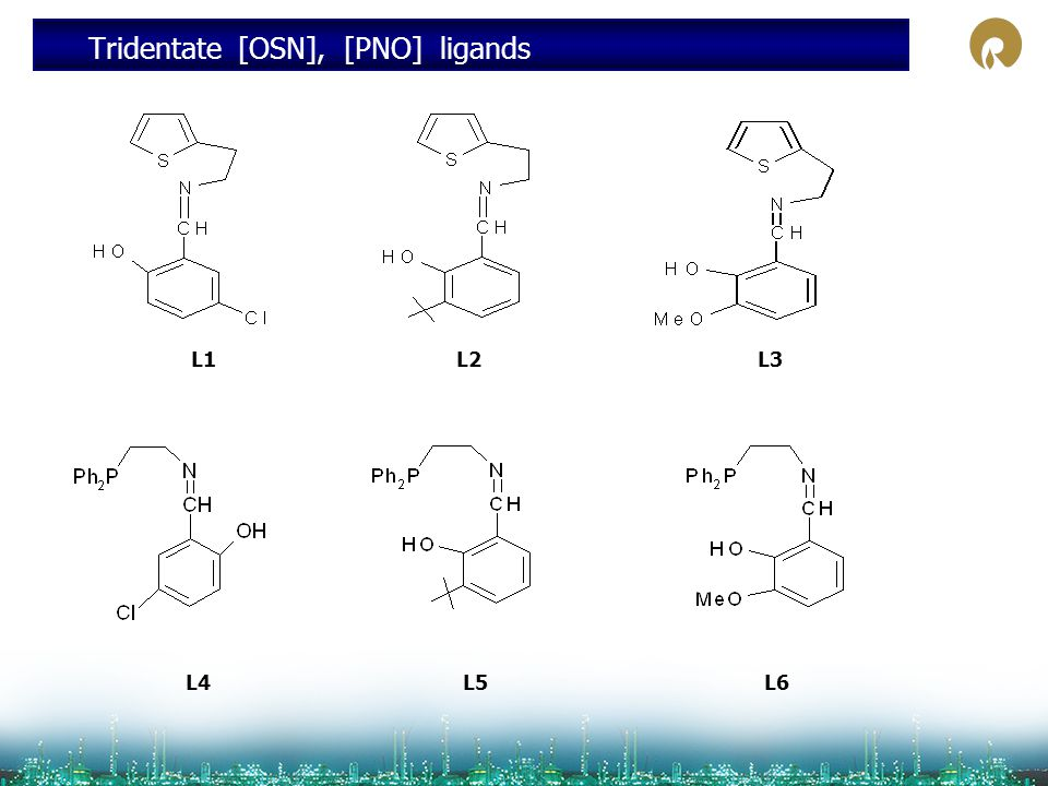 Tridentate [OSN], [PNO] ligands